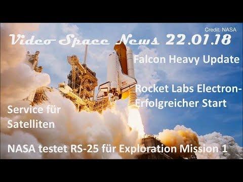 Falcon Heavy Update, Rocket Lab Electron, Service für Satelliten | Video Space News 22.01.2018