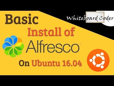 Basic install of Alfresco 5.2 on Ubuntu 16.04