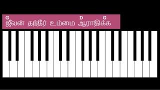 Jeevan Thandheer Ummai Keyboard Chords - G Chord