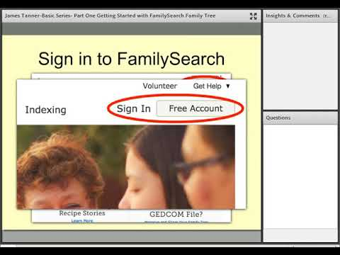Basic Series: Part 1 - Getting Started with FamilySearch Family Tree - James Tanner