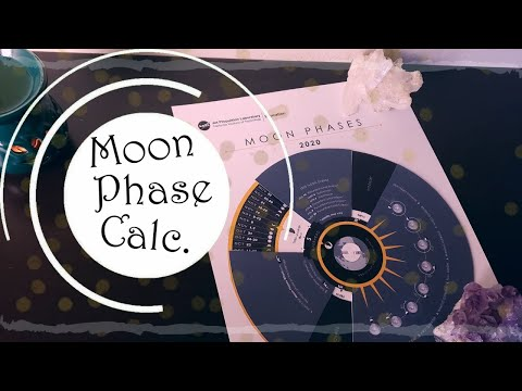 Moon Phase Calendar || Free Grimoire Page Tutorial