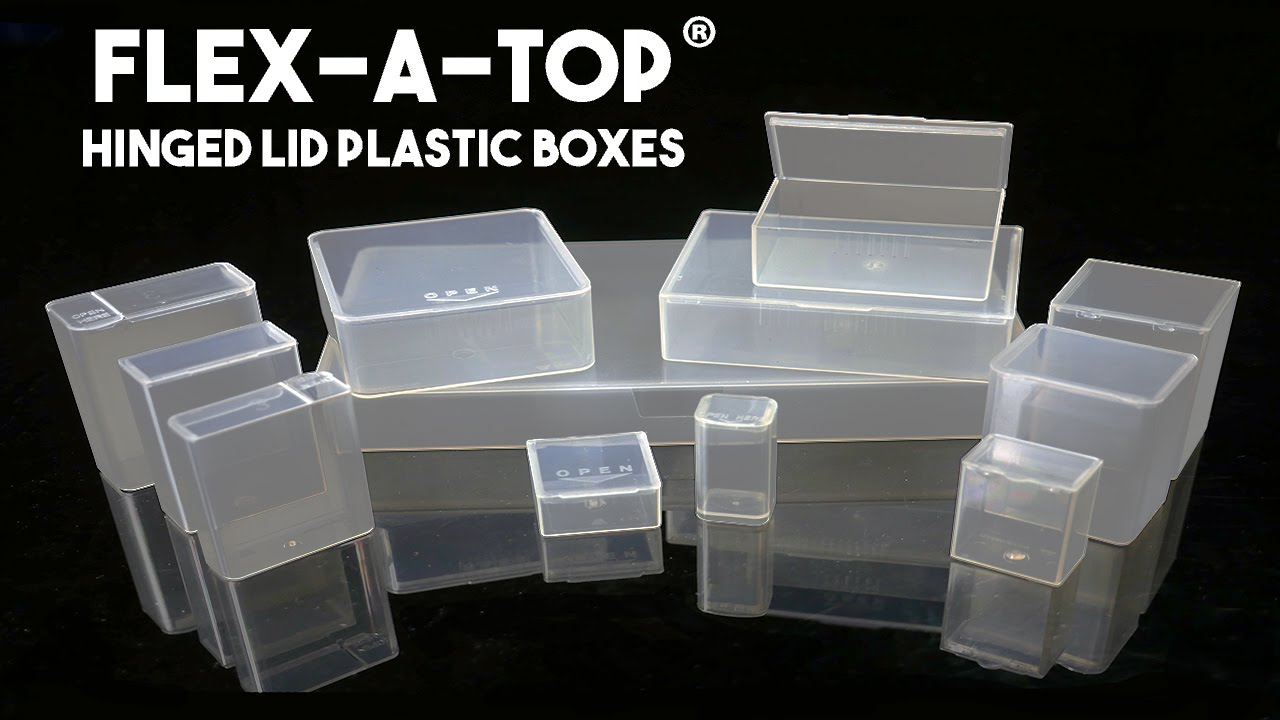 & Flex-A-Top®: Hinged Lid Plastic Boxes - YouTube