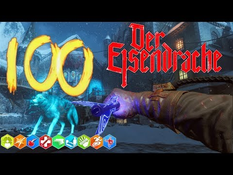 'DER EISENDRACHE' ROUND 100 EASTER EGG BOSS FIGHT! ROAD TO 20K (BLACK OPS 3 ZOMBIES)