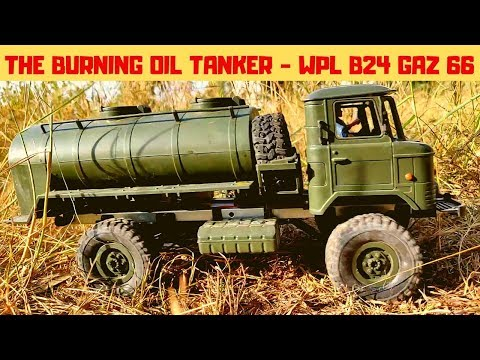 WPL B24 GAZ 66 OIL TANKER | EP 1 - THE BURNING OIL TANKER | RC WITH POPEYE
