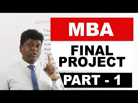 MBA Project Report - 1 | General Framework Of The Project Report | JNTUH, MBA Project | Dr ANR