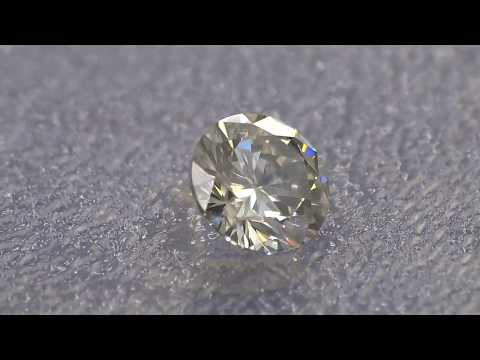 0.70 CT 5.75 mm NATURAL DIAMOND GRAY Certificate SI2 video