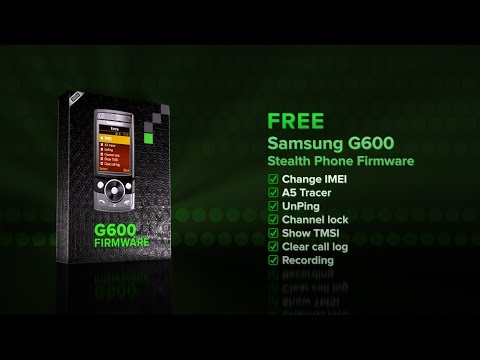 Free Firmware Stealth Phone Anti Tapping Samsung G600 7 functions