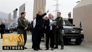 Trump tours border wall progress in Otay Mesa, California