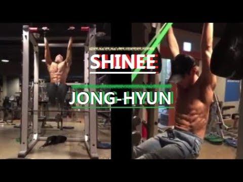 Kpop Shinee member JONG-HYUN abs workout !!