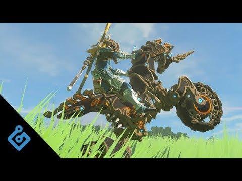 Sick Stunts On Zelda: BOTW's New Motorcycle
