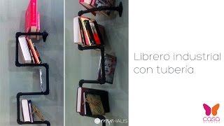 DIY: Cómo hacer un librero industrial con tubería o cañería | Hazlo tú mismo