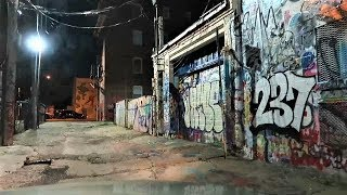 BALTIMORE HOUSING PROJECTS AT NIGHT / HUGE RATS SPOTTED