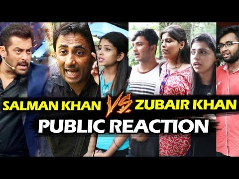 Salman Khan Vs Zubair Khan FIGHT - PUBLIC Reaction - Bigg Boss 11