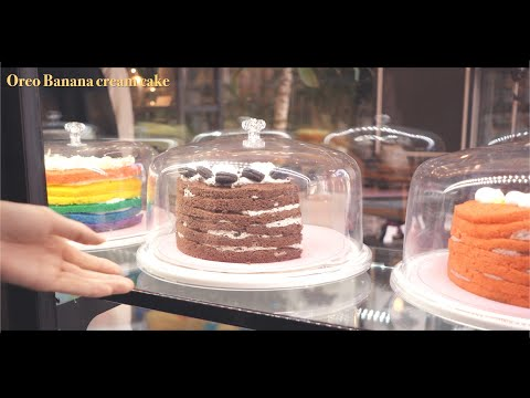 Wanna check 7 cakes at my mom's cafe?   Oreo, Milk, Raspberry yogurt cake