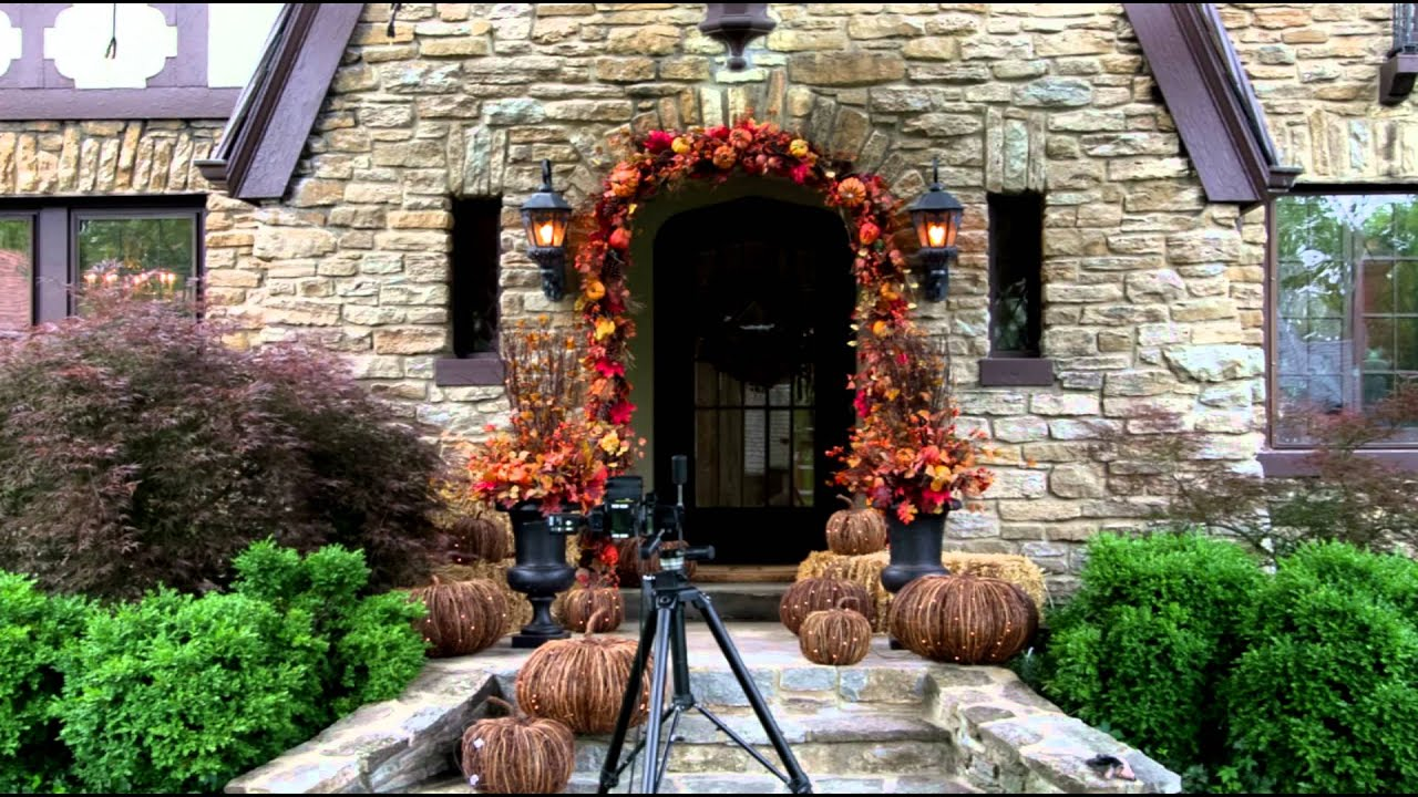 decorating your porch for fall and halloween grandin road youtube - Grandin Road Halloween