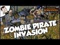 THE VAMPIRE COAST INVASION! Total War WARHAMMER Mod Survival Gameplay