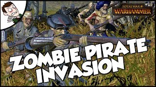 THE VAMPIRE COAST INVASION! Total War WARHAMMER Mod Survival Gameplay