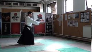 zengo no ido ushiro tsuki [TUTORIAL] Aikido advanced weapon technique
