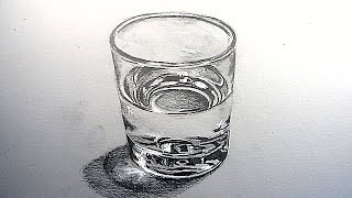 How to Draw a Glass of Water: Narrated Step by Step