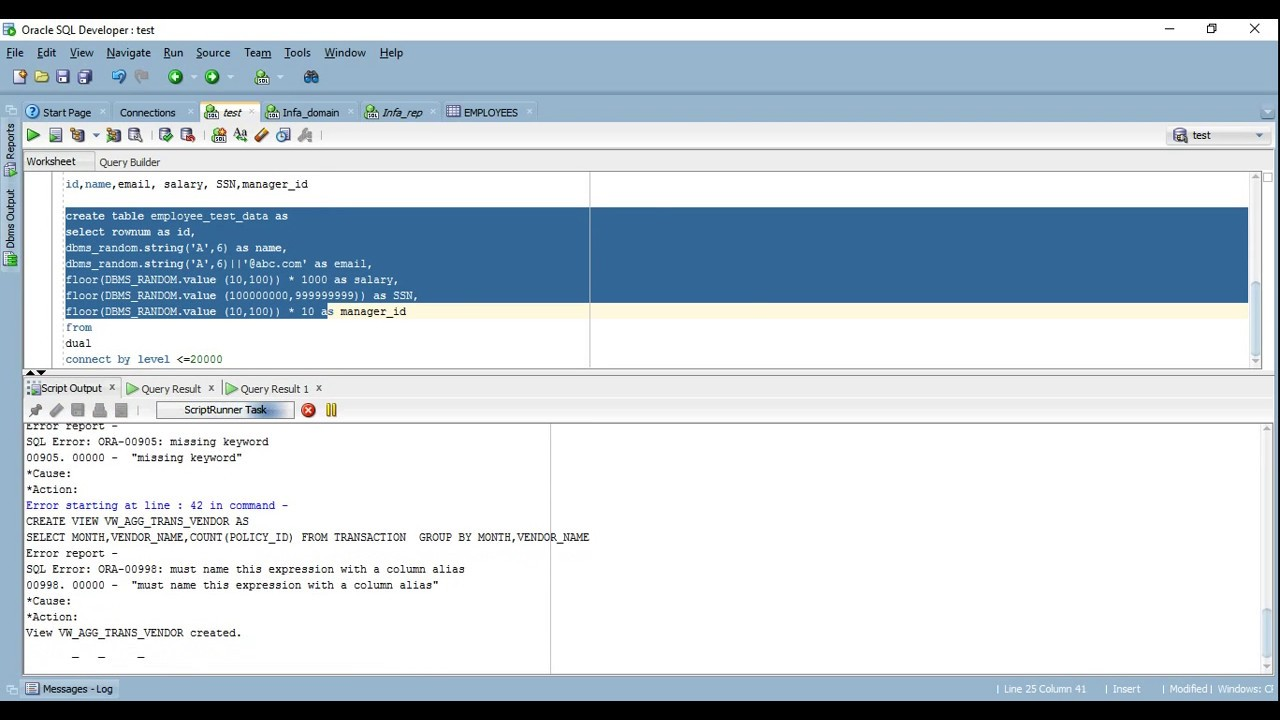 Test Data Generation in SQL with in 1 minute