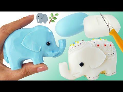 SOAP CARVING | Elephant | Easy~Intermediate | Tutorial | Stop Motion | Satisfying |