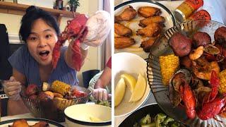 Seafood Boil Mukbang (Rating local NASHVILLE in Seafood + Watch Me Eat)