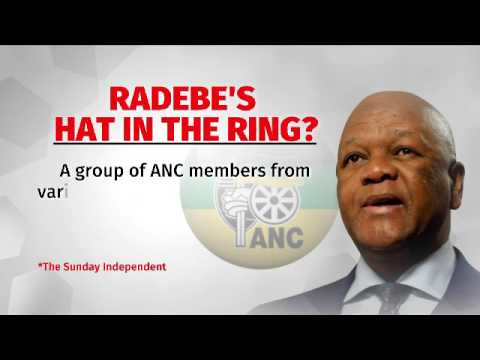 Jeff Radebe throws his hat into the ring