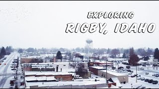 Exploring rigby, idaho | drone perspective of rigby in winter social hustle content creation