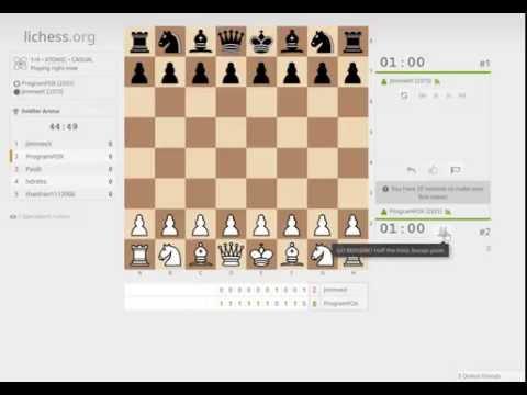 Going berserk in 1+0 atomic chess on lichess.org (streamed)