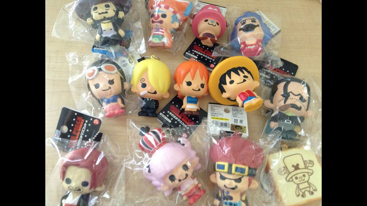 Squishy Collection : One Piece Squishy Collection 2015 - Squishy Neko - YouTube