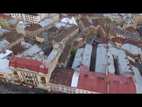Lviv with drone