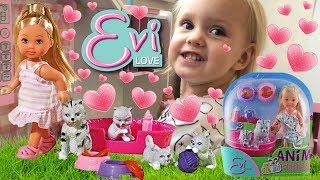 КУКЛА ЕВИ УХАЖИВАЕТ ЗА КОТЯТАМИ! Играем с куклами ВИДЕО ДЛЯ ДЕТЕЙ Игрушки для девочек EVI DOLL