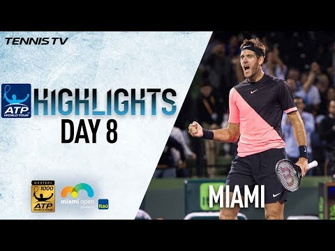 Highlights: Del Potro, Isner Reach Miami Open Semi-finals