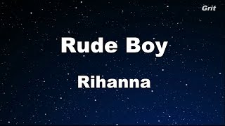 Rude Boy - Rihanna Karaoke 【With Guide Melody】 Instrumental