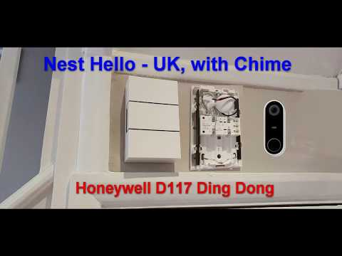 Nest Hello With Chime Uk Honeywell D117 Youtube