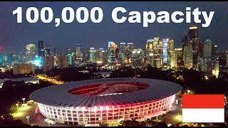 Indonesia's Biggest Football Stadium!! (Gelora Bung Karno Stadium)