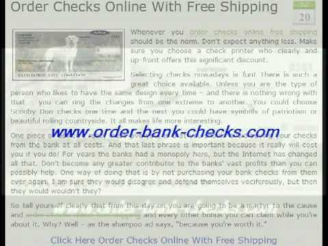 Order Checks Online Free Shipping