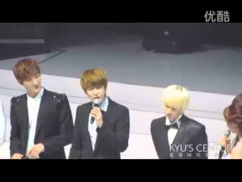 [Fancam] 110816 Beijing fan meeting - Kyu talks about his impression of Beijing