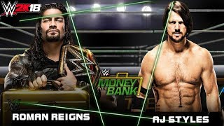 WWE 2K18 - Hindi -  ROMAN REIGNS VS AJ STYLES!! - HARDCORE MATCH (PS4 Pro)