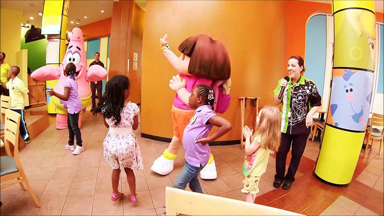 nickelodeon hotel character breakfast youtube