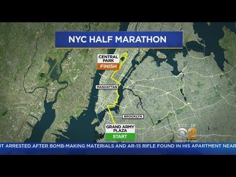 NYC Half Marathon Underway