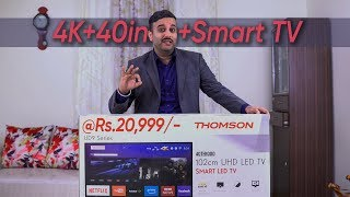 40 inch 4K Smart TV In 20,999   THOMSON UD9 40TH1000 Unboxing & Overview   Cheapest 4K TV Under 21K