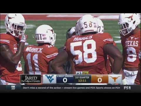 NCAAF 2016 Week 11 West Virginia at Texas 720p60