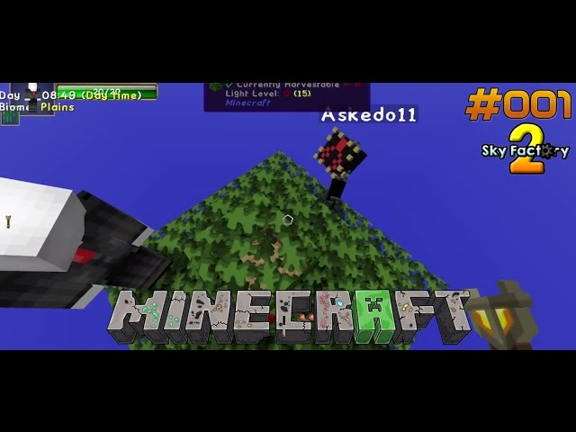 Let's Play Minecraft Sky-Factory 2 | Am Anfang war ein Baum | Folge #001