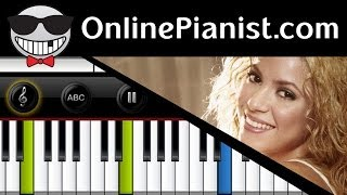 Shakira - Empire - Piano Tutorial & Sheets Full Song (Intermediate Version)