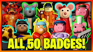 How to get AĻL 50 BADGES + SKINS/MORPHS in PIGGY RP FILM ROLEPLAY! || Roblox