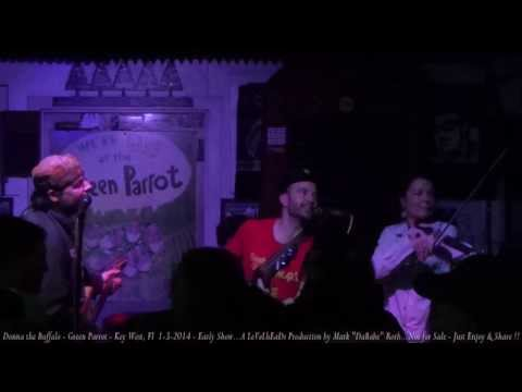 Donna the Buffalo - Green Parrot - Key West, Fl  1- 3- 2014   Early Show