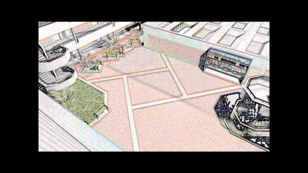 Plano 3d de las instalaciones de la escuela sencico lima - Como hacer un plano de una casa ...