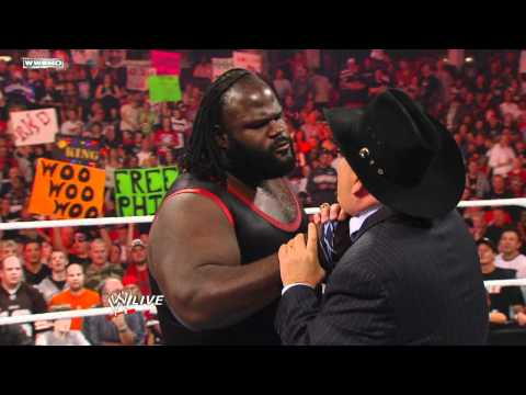 Raw - Mark Henry describes his World Heavyweight Title triumph to Jim Ross