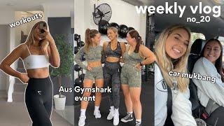 WEEKLY VLOG! Home Workouts, Aus Gymshark Event + Car Mukbang!